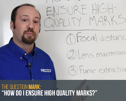 Ask an Engineer on how to ensure high-quality marks
