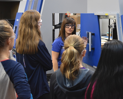 STEM Students Touring MECCO