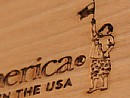 "CO2 Laser Marking for ""young America"" products by Stanley Furniture"