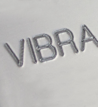 Example of a Vibra Peen mark in metal