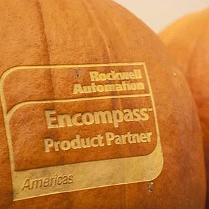 Rockwell Automation Logo Pumpkin Carving